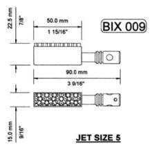 Bix 009 50 x 16mm Burner for Wilesco D18 & Mobiles